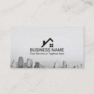 Real Estate Broker Modern City Skyline Business Card