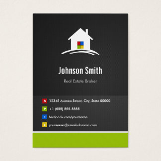 Real Estate Broker - Premium Creative Innovative Business Card