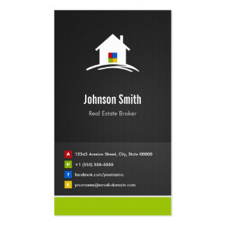 Real Estate Broker - Premium Creative Innovative Double-Sided Standard Business Cards (Pack Of 100)