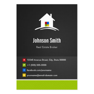 Real Estate Broker - Premium Creative Innovative Large Business Card
