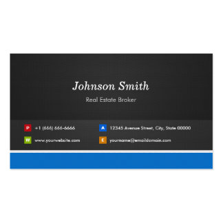 Real Estate Broker - Professional Customizable Double-Sided Standard Business Cards (Pack Of 100)