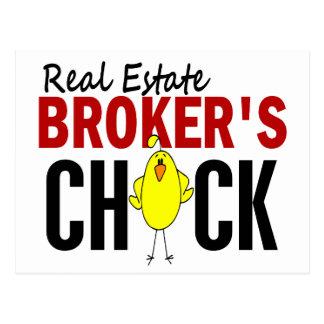 REAL ESTATE BROKER'S CHICK POSTCARD