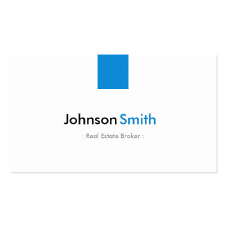 Real Estate Broker - Simple Aqua Blue Double-Sided Standard Business Cards (Pack Of 100)