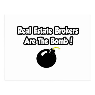 Real Estate Brokers Are The Bomb! Postcard