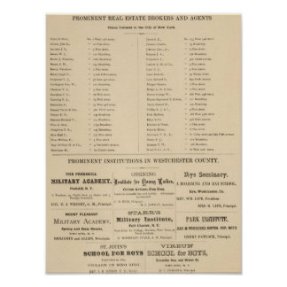 Real estate brokers, NYC Institutions Poster