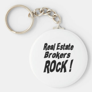 Real Estate Brokers Rock! Keychain