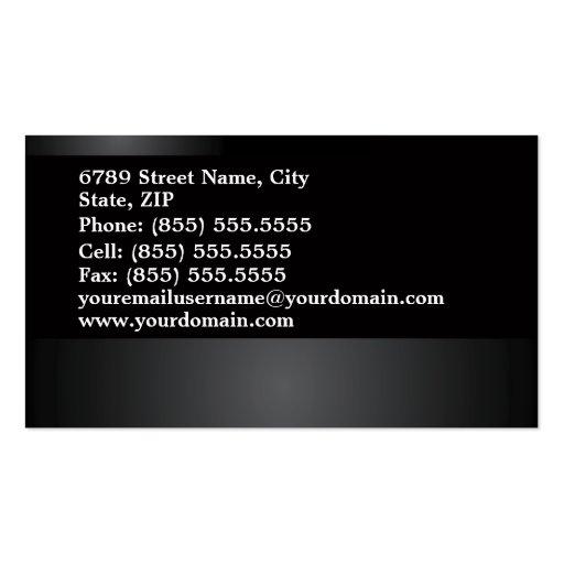 Real Estate Business Card (back side)