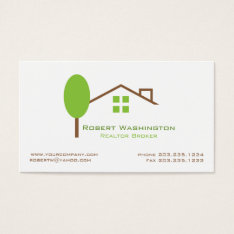Real Estate Business Card at Zazzle