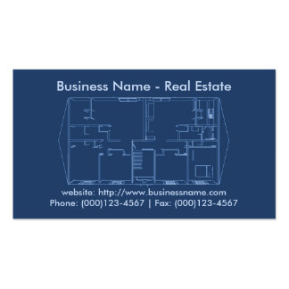 Real Estate Business Card: Floor Plan Blueprint