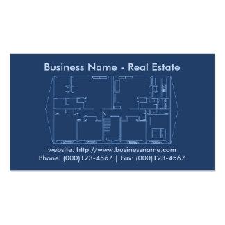 Real Estate Business Card: Floor Plan Blueprint Business Card