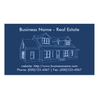 Real Estate Business Card: House Blueprint