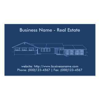 Real Estate Business Card: House Blueprint Business Card