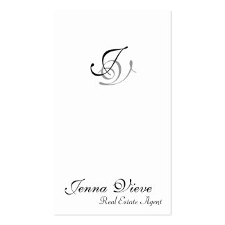 Real Estate Business Card Monogram Black & White