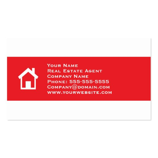 Real estate business card template zazzle for Real estate business card template