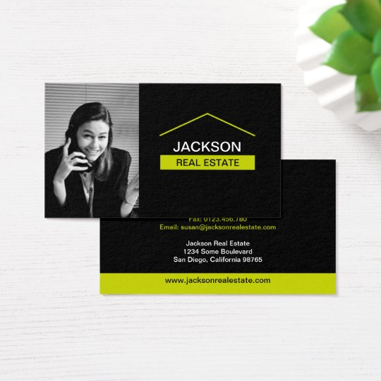 Real Estate Business Card With Photo