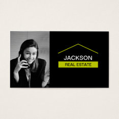 Real Estate Business Card With Photo at Zazzle