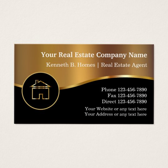 Real estate business cards zazzle real estate business cards reheart Images