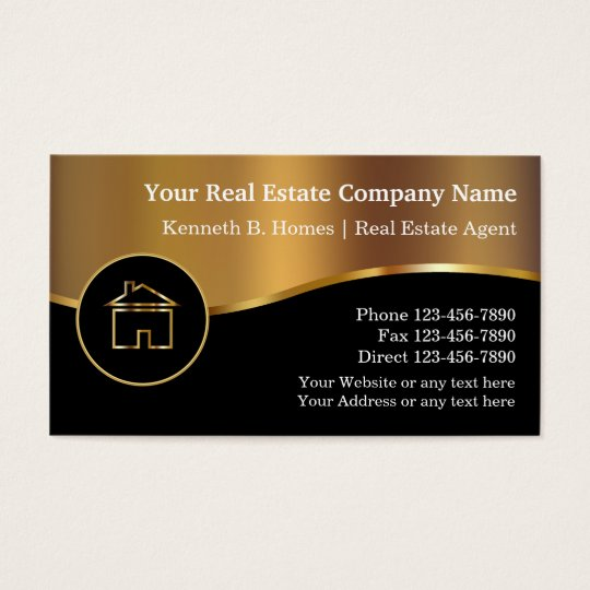 Real estate business cards zazzlecom for Business card ideas for real estate