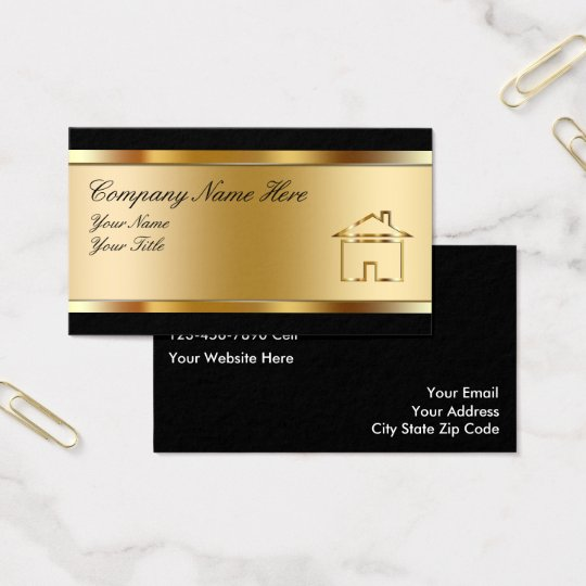 real estate business cards with photo