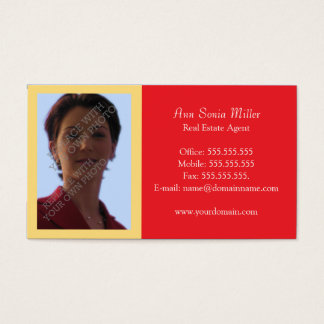 Real Estate Business Cards Template - Red Combo