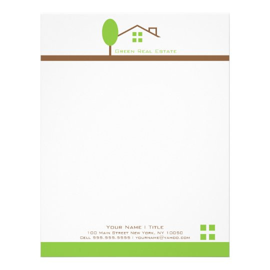 Real Estate Business Letterhead | Zazzle