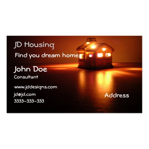 Real estate businesscards Double Sided standard business