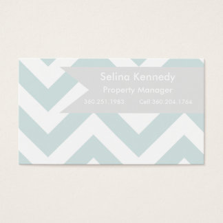 Real Estate | Chevron teal Business Card