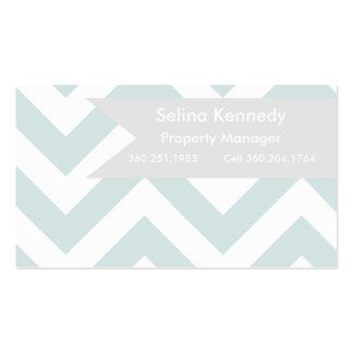 Real Estate | Chevron teal Business Card Template