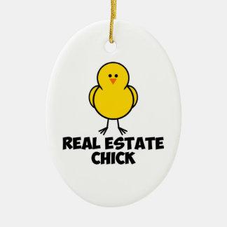 Real Estate Chick Ceramic Ornament