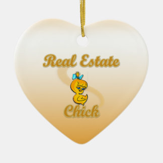 Real Estate Chick Christmas Ornament