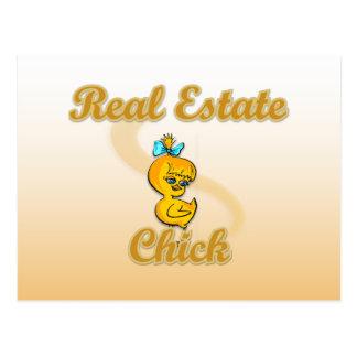 Real Estate Chick Postcard