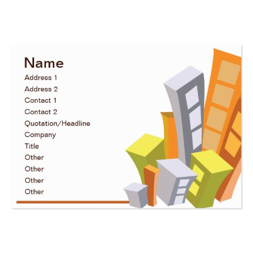 Real Estate - Chubby Business Card Templates