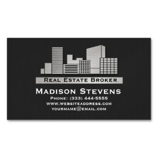 Real Estate City Logo Business Card Magnets