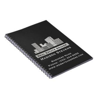 Real Estate City Logo Spiral Notebook
