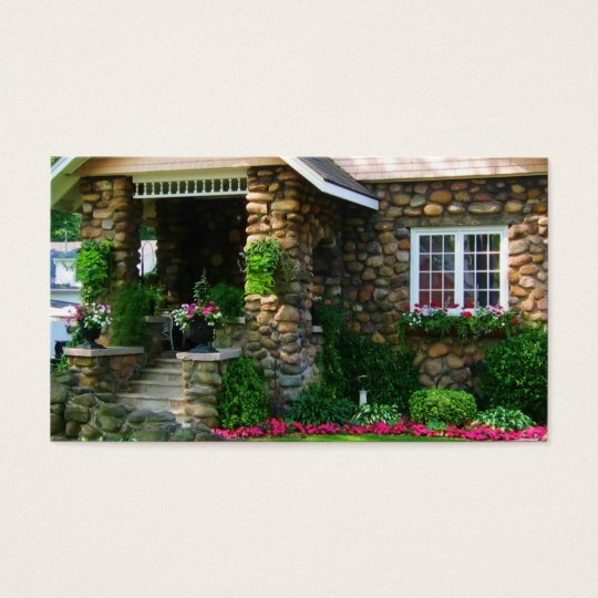 Real Estate Cobblestone House Business Card