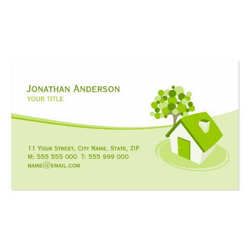 Real Estate / Constructions business card