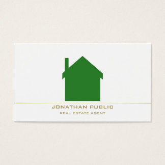 Real Estate Consultant Modern Stylish Design Luxe Business Card