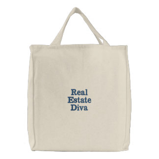 Real Estate Diva Embroidered Bags
