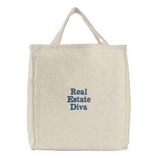 Real Estate Diva Embroidered Tote Bag