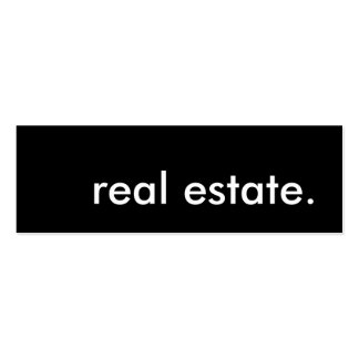 real estate. Double-Sided mini business cards (Pack of 20)