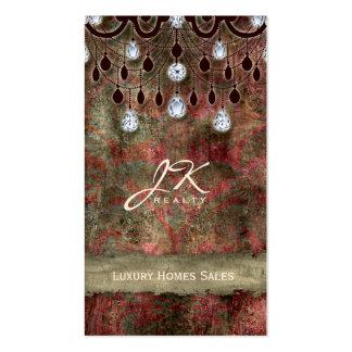 Real Estate Elegant Vintage Chandelier Business Card Templates
