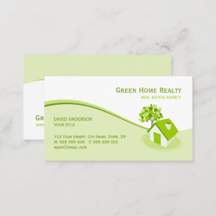 Sustainability business cards zazzle real estate environment sustainable business card colourmoves