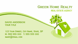 Sustainability business cards templates zazzle real estate environment sustainable business card colourmoves