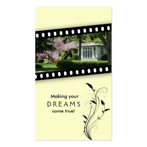 Real Estate Film House Business Card