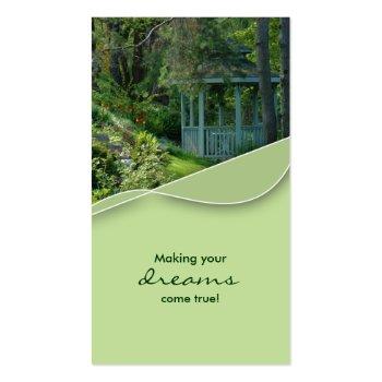 Real Estate Gazebo Garden House Business Card profilecard