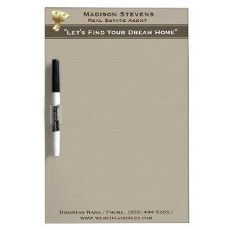 Real Estate Gold Keys Dry Erase Board