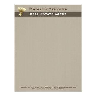 Real Estate Gold Keys Letterhead