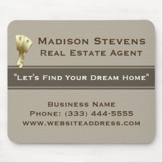 Real Estate Gold Keys Mouse Pad