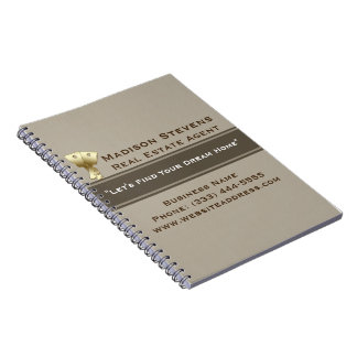 Real Estate Gold Keys Spiral Notebook