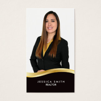 Real Estate gold swoosh business card